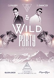 Smallpreview_Wild_Party-flyer-psd-template-facebook-cover
