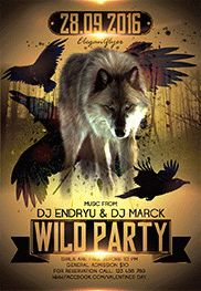 Smallpreview_Wild_Party_2-flyer-psd-template-facebook-cover