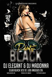 All Black Party Poster