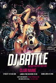 Dj Battle Party – Premium Club flyer PSD Template
