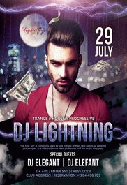 Guest DJ Lightning – Flyer PSD Template
