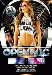 Open Mic Party – Flyer PSD Template