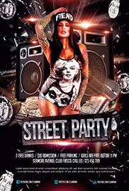 Street Party – Flyer PSD Template
