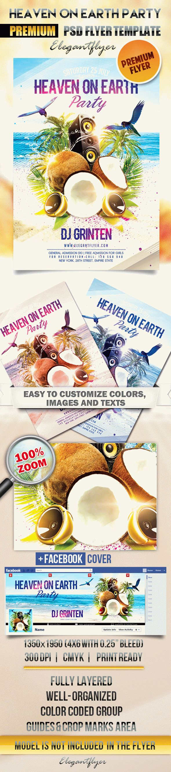 Heaven on Earth Party – Flyer PSD Template