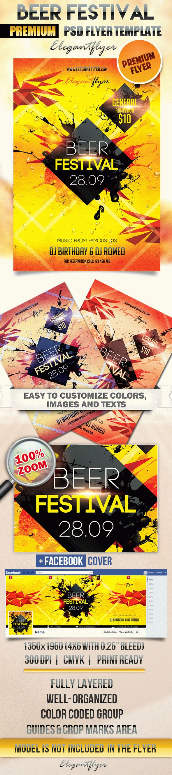 Beer Festival – Flyer PSD Template + Facebook Cover