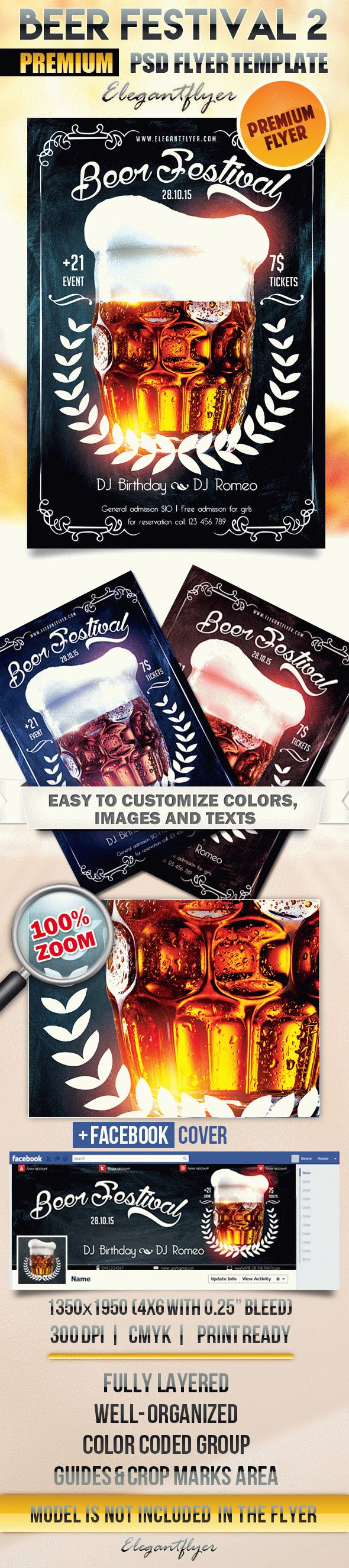 Beer Festival 2 – Flyer PSD Template