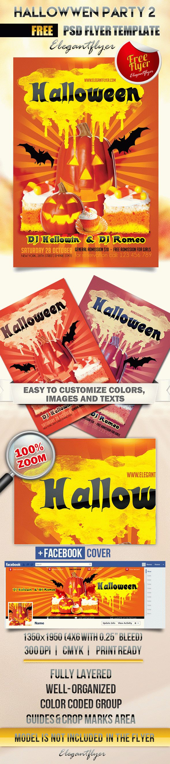 Hallowwen party 2 – Flyer PSD Template