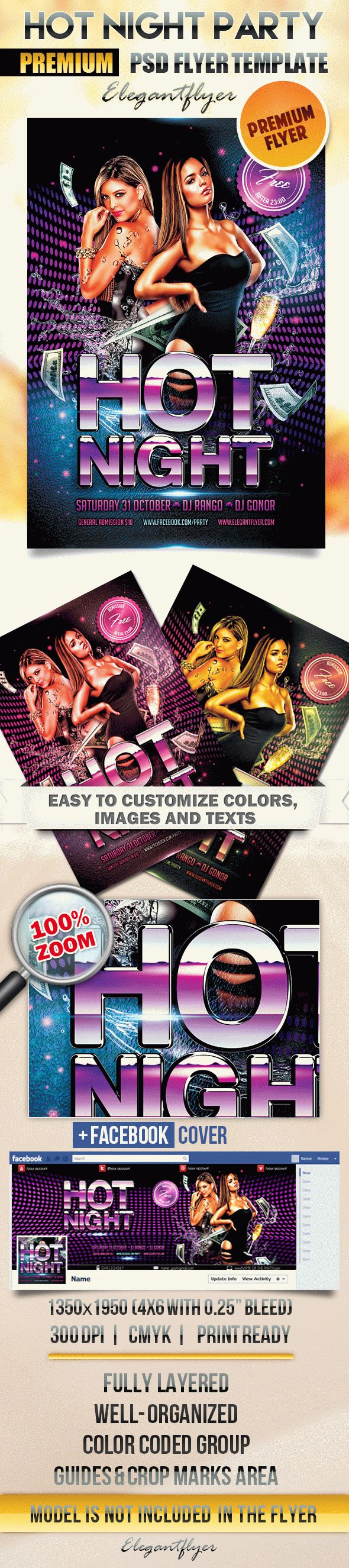 Hot Night Party – Flyer PSD Template