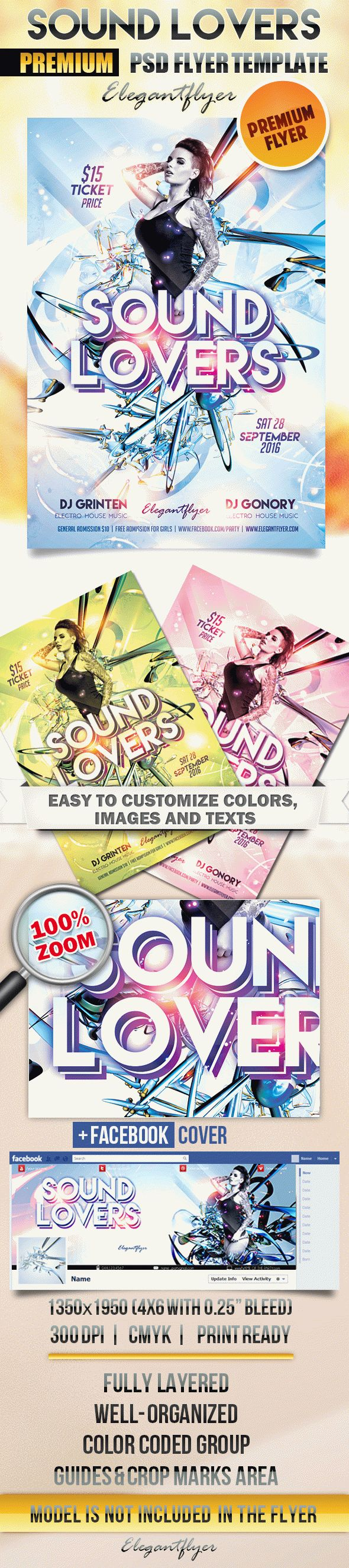 Sound Lovers – Flyer PSD Template