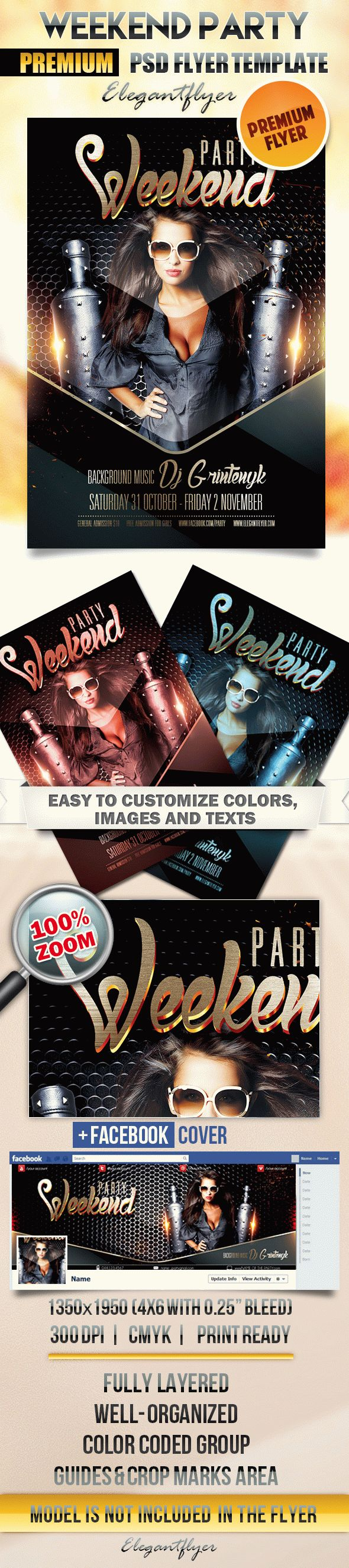 Weekend party – Flyer PSD Template