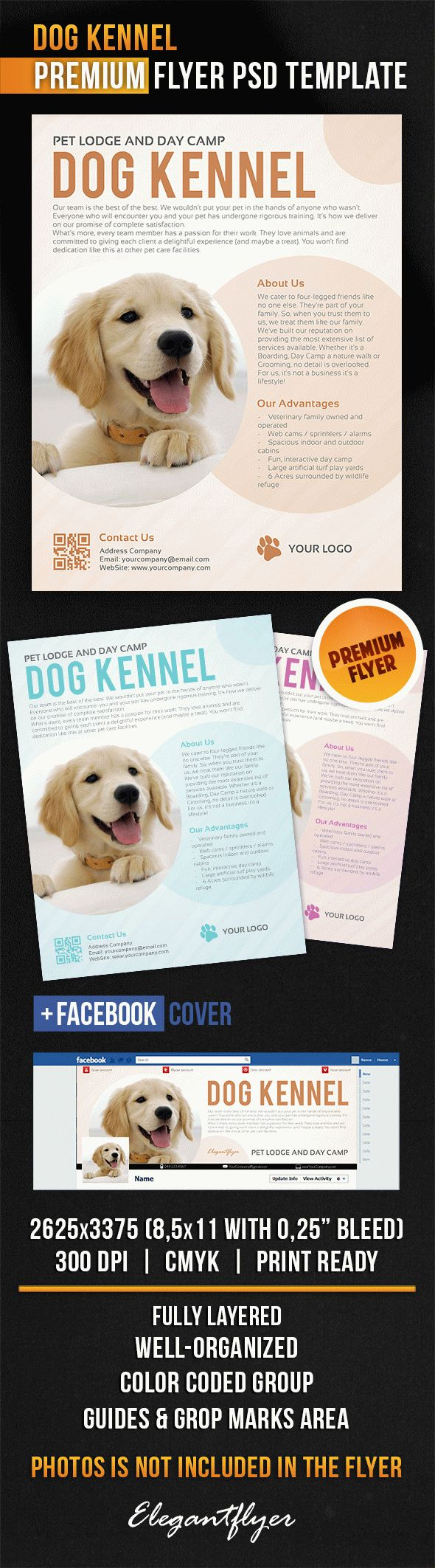 Dog Kennel – Flyer PSD Template