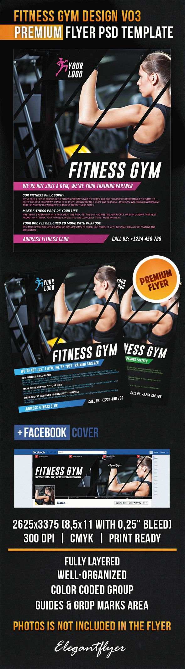 Fitness Gym Design V03 – Flyer PSD Template