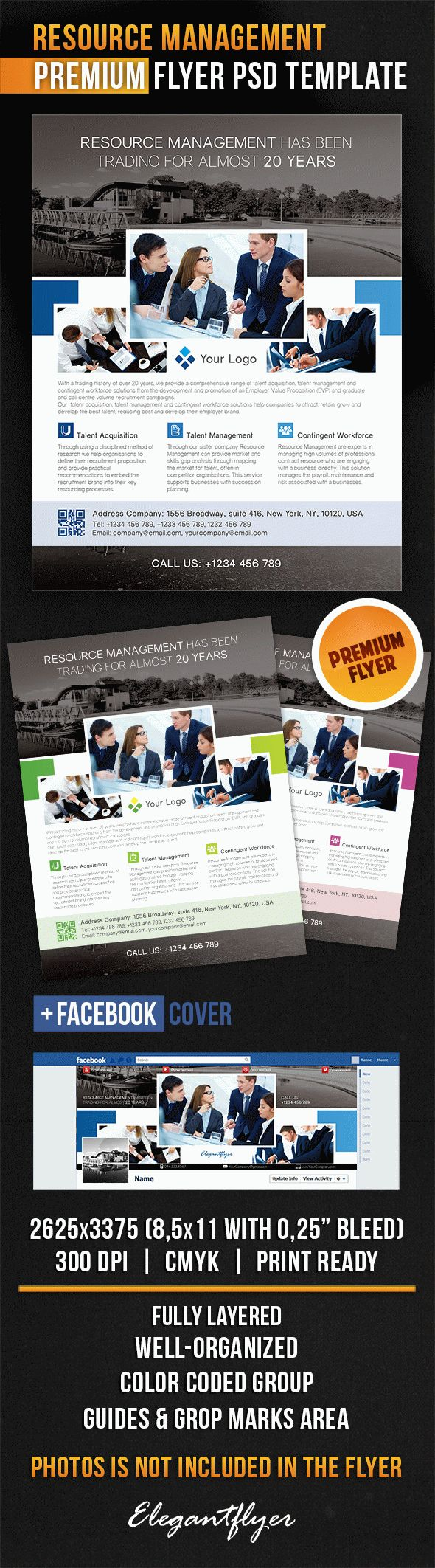 Resource Management – Flyer PSD Template