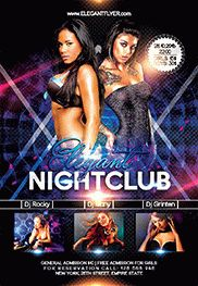 Elegant Nightclub – Flyer PSD Template