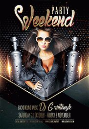 Weekend Drink – Flyer PSD Template + Facebook Cover
