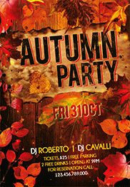 Autumn Party – Free Flyer PSD Template + Facebook Cover