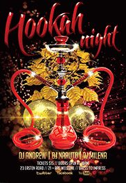Hookah Night Party Flyer