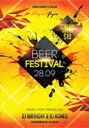 Beer Festival 2 – Flyer PSD Template + Facebook Cover