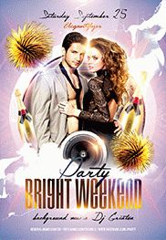 Bright Weekend party – Flyer PSD Template