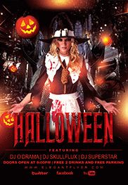 Halloween Theme for Night Flyer Party