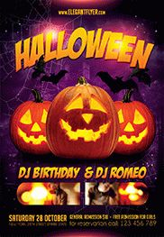Flyer Template For Kids Halloween Party