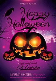 Happy Halloween party – Flyer PSD Template