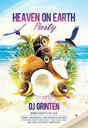 Beach Party V02 – Flyer PSD Template