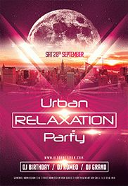 Urban Relaxation Party – Flyer PSD Template