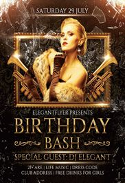Bday Bash – Premium Club flyer PSD Template