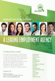 Employment Agency – Free Flyer PSD Template