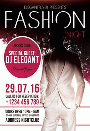 Fashion Night – Free Flyer PSD Template