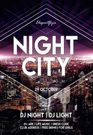 Night City – Free Flyer PSD Template