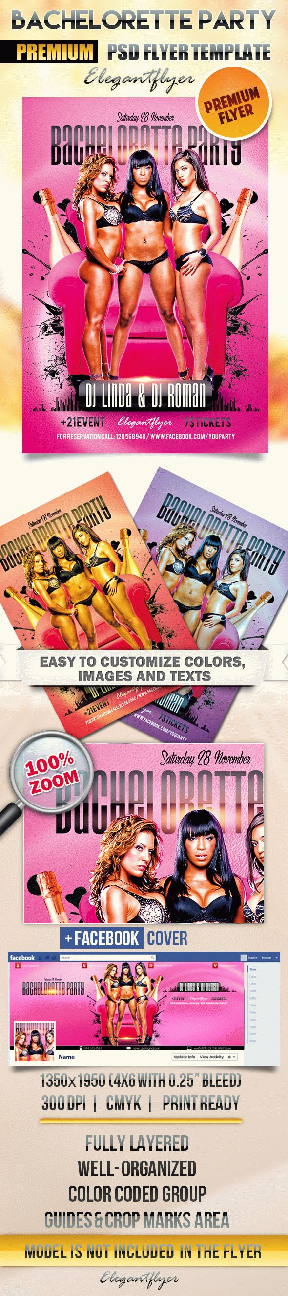 Bachelorette party – Flyer PSD Template