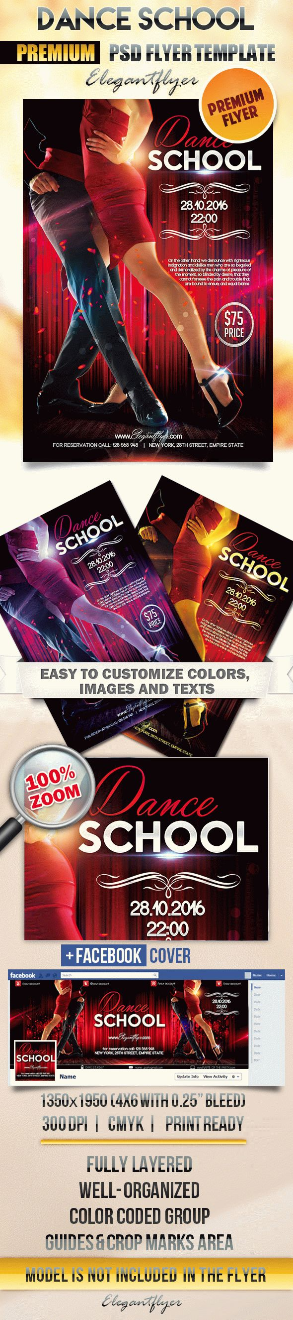 Dance School – Flyer PSD Template