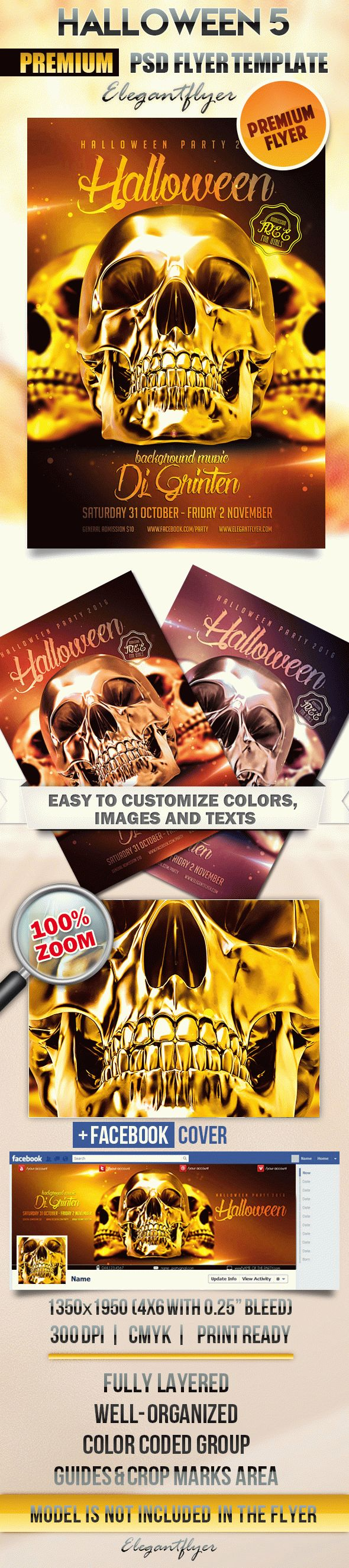 Halloween 5 – Flyer PSD Template