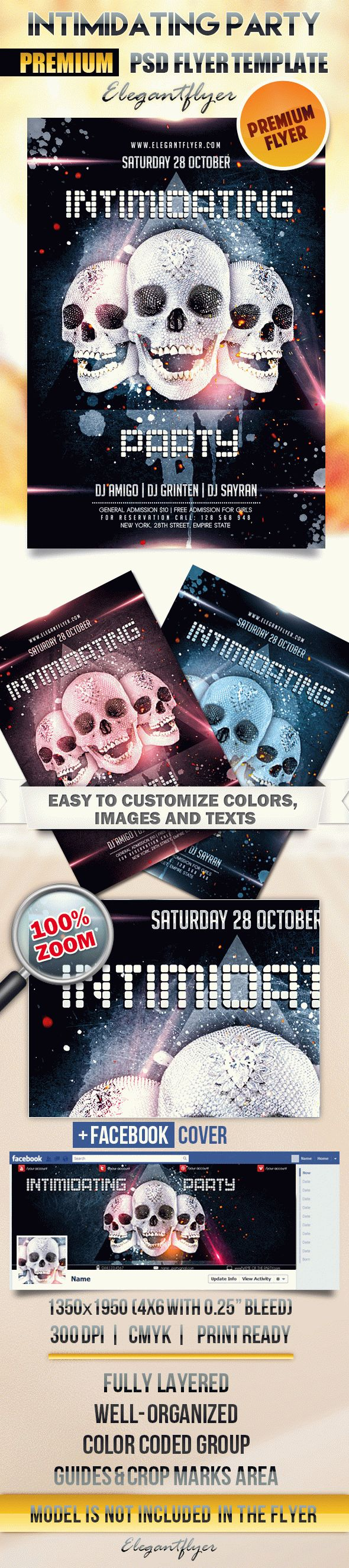 Intimidating Party – Flyer PSD Template