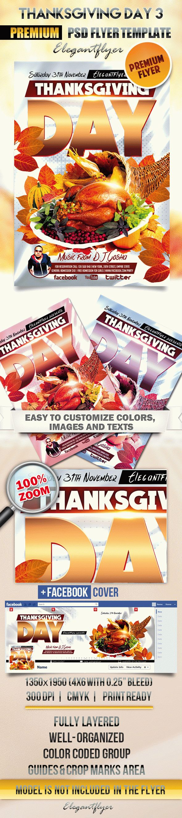 Thanksgiving Day 3 – Flyer PSD Template