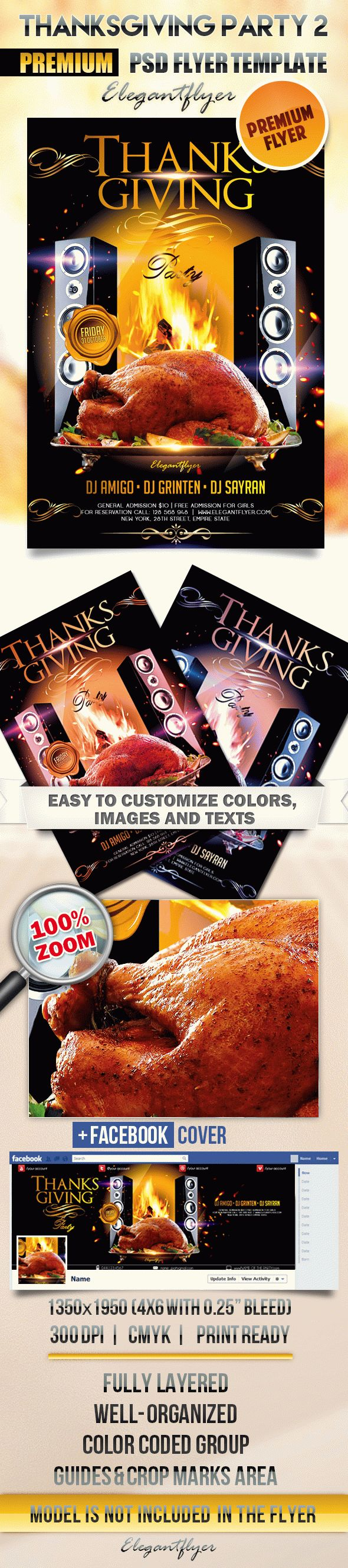 Thanksgiving Party 2 – Flyer PSD Template