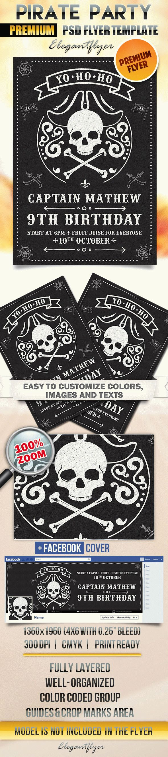 Flyer Template For Pirate Party
