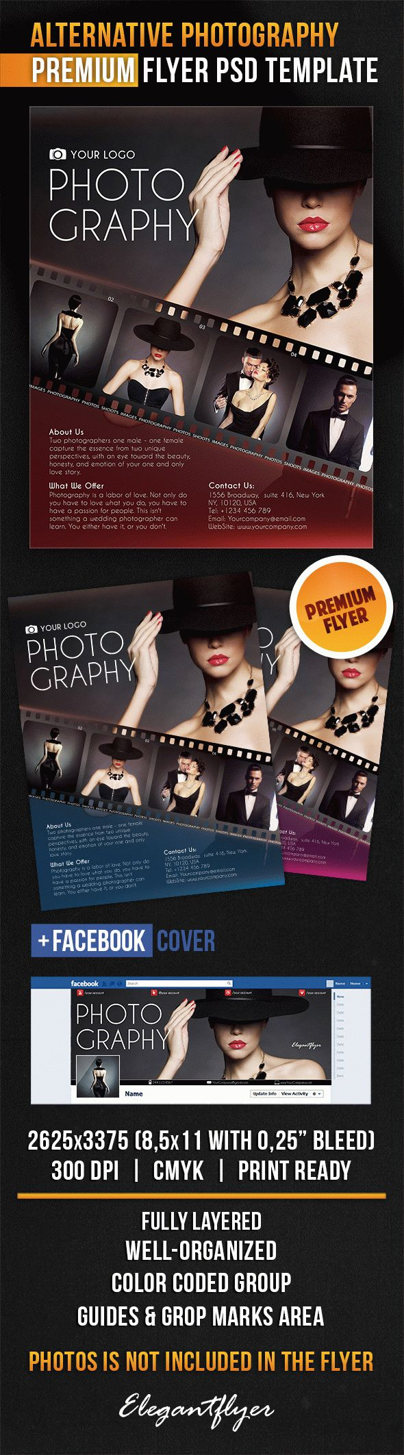 Alternative Photography – Flyer PSD Template