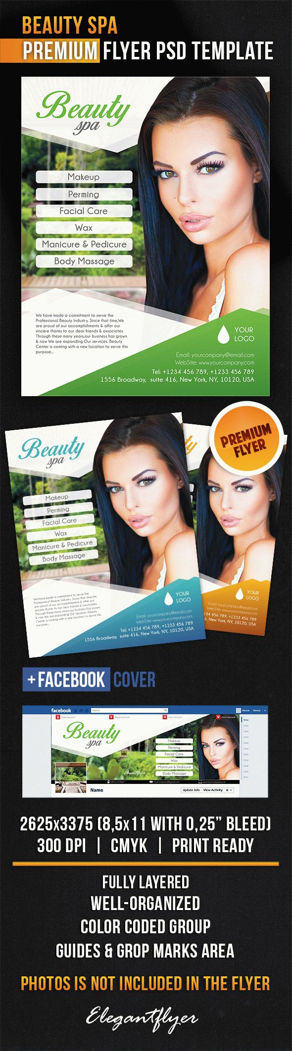 Beauty Spa – Flyer PSD Template + Facebook Cover