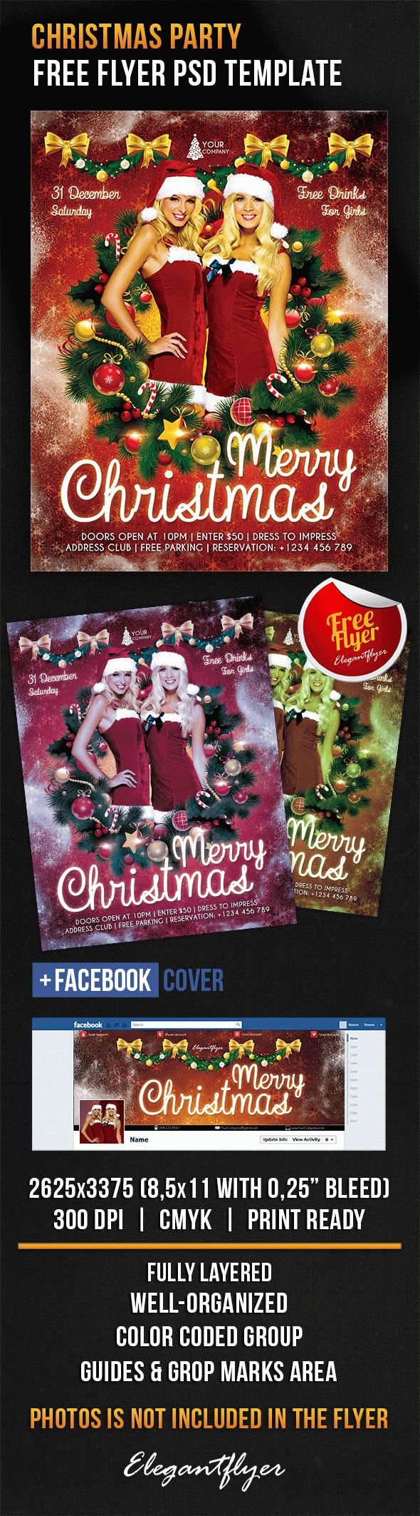 christmas brochure templates free - free sexy christmas party themes by elegantflyer