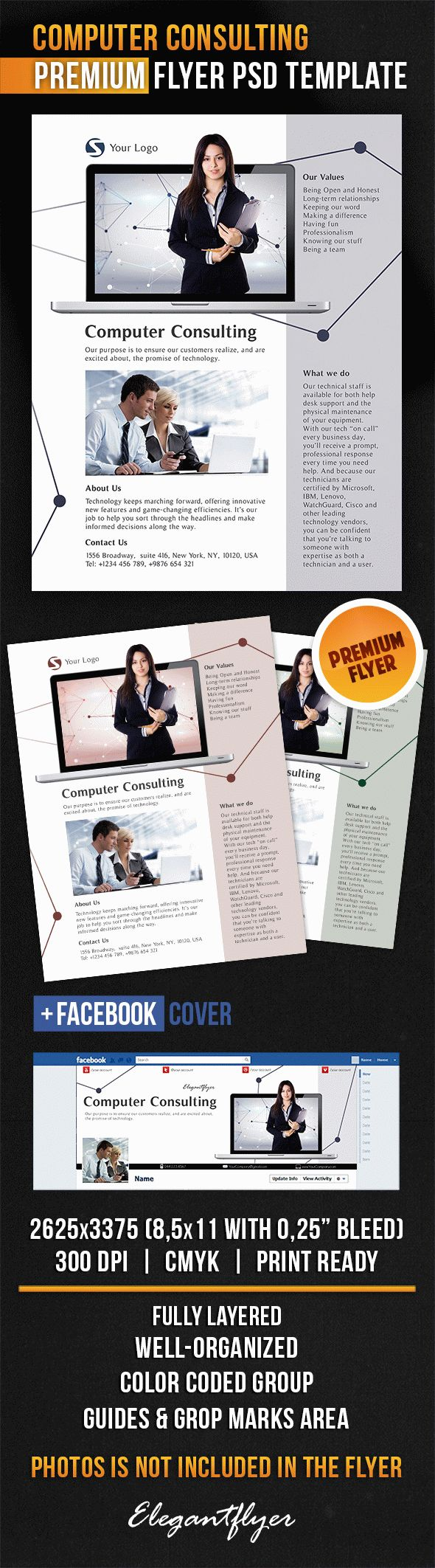 Computer Consulting – Flyer PSD Template
