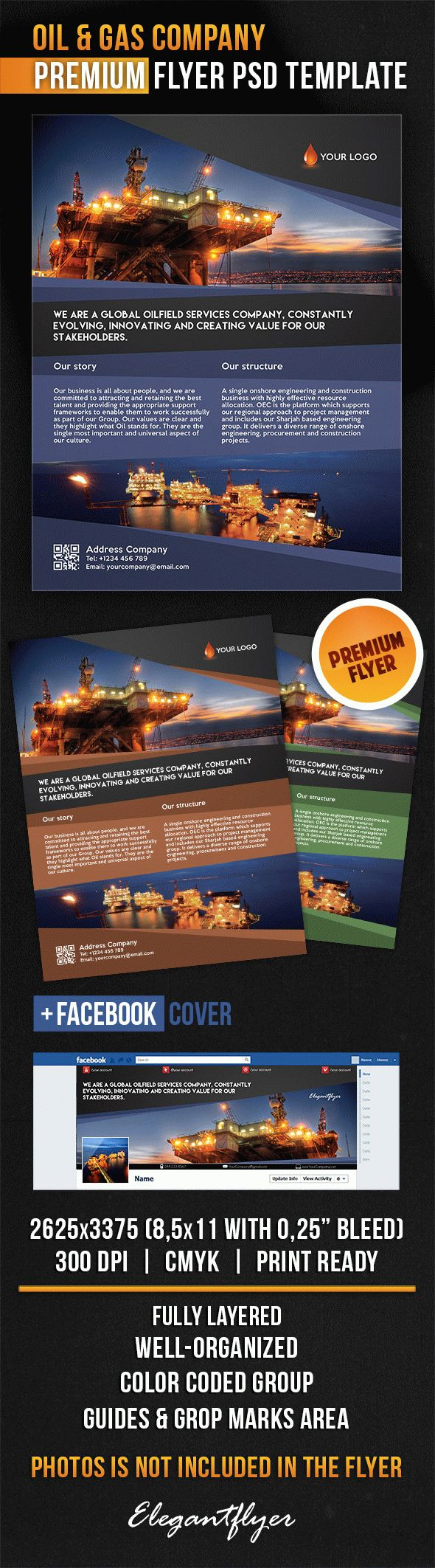 Oil & Gas Company – Flyer PSD Template
