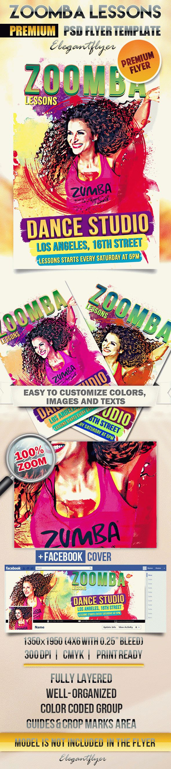 Zoomba Lessons – Flyer PSD Template