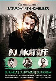 Special Guests DJs – Free Flyer PSD Template + Facebook Cover
