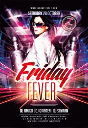 Friday Fever – Flyer PSD Template