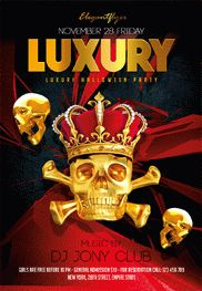 Luxury Halloween Party – Flyer PSD Template