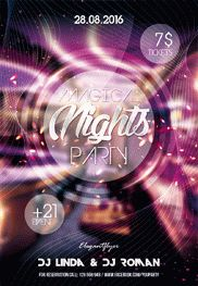 Glow Party2 – Premium Club flyer PSD Template