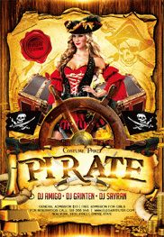 Pirate Party Flyer in PSD